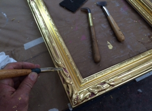 Burnishing Water Gilding