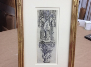 Framed Etching