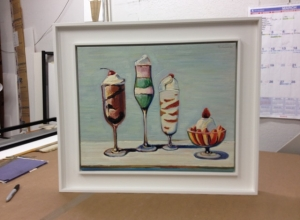 Framed Wayne Thiebaud Painting